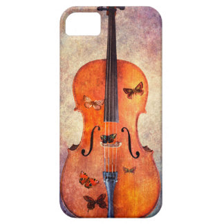Magic cello with butterflies iPhone 5 cover