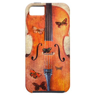 Magic cello with butterflies iPhone 5 covers