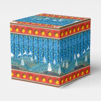 Magic Christmas background. Favor Box