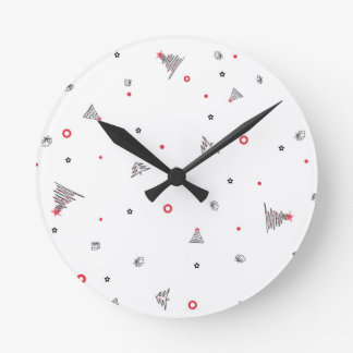 Magic Christmas Rain Round Clock