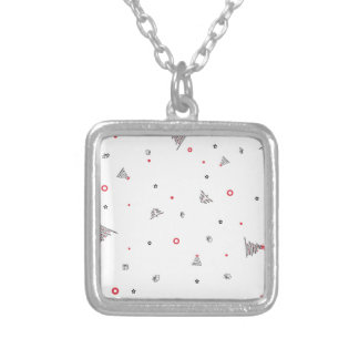 Magic Christmas Rain Silver Plated Necklace