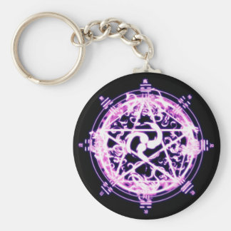Magic circle basic round button keychain