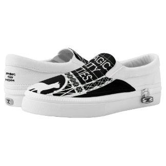 Magic City Kitties Custom Zips Slip-On Sneakers