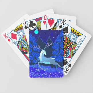 Magic Cute Christmas Deer with bell Bicycle Playing Cards