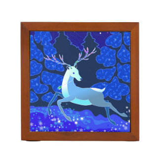 Magic Cute Christmas Deer with bell Desk Organizer
