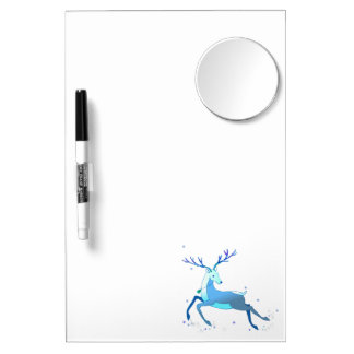 Magic Cute Christmas Deer with bell Dry Erase Board With Mirror