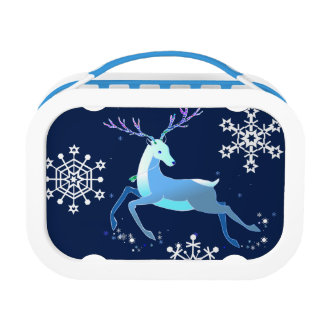 Magic Cute Christmas Deer with bell Lunch Box