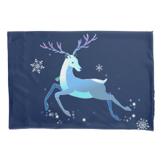 Magic Cute Christmas Deer with bell Pillowcase