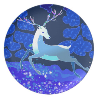 Magic Cute Christmas Deer with bell Plates