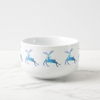 Magic Cute Christmas Deer with bell Soup Mug