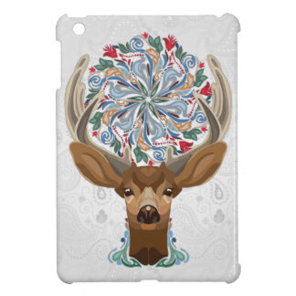Magic Cute Forest Deer with flourish spring symbol Case For The iPad Mini