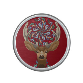 Magic Cute Forest Deer with flourish spring symbol Speaker