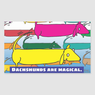 Magic Dachshunds Rectangle Sticker