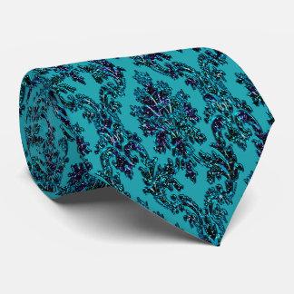 Magic Dust Damask Print Tie