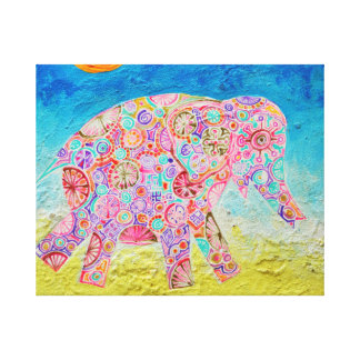 Magic elephant in sun - Magic creature Art Canvas Print