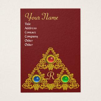 MAGIC ELFIC TALISMAN MONOGRAM BUSINESS CARD