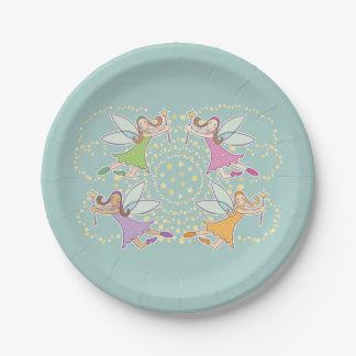 Magic Fairies Paper Plate 7 Inch Paper Plate