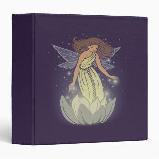 Magic Fairy White Flower Glow Fantasy Art Binder