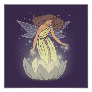 Magic Fairy White Flower Glow Fantasy Art Photograph