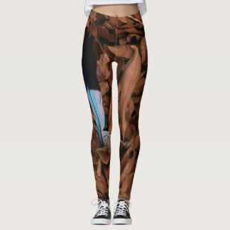 Magic Feather on Baobab Leaves Leggings