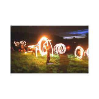 Magic Fireshow Canvas - Long Exposure Photography