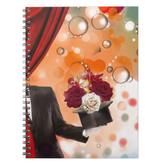 Magic flowers for a very special person. spiral notebook