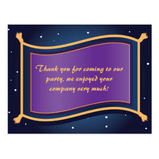 Magic Flying Carpet Birthday Thank You Post Card