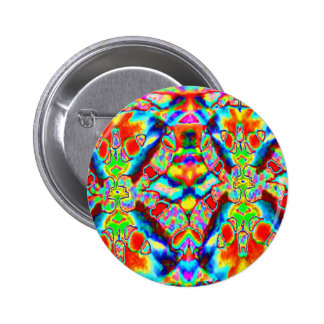 MAGIC Flying Carpet TEMPLATE Colorful Pattern GIFT 2 Inch Round Button