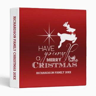 Magic Flying Christmas Reindeer (red) 3 Ring Binder