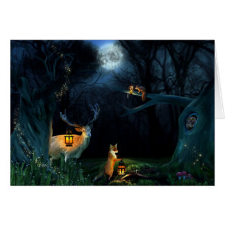 Magic Forest Wildlife Greeting Card