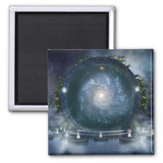 Magic Galaxy Portal Square Magnet