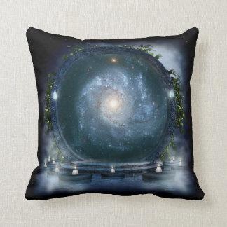 Magic Galaxy Portal Throw Pillow