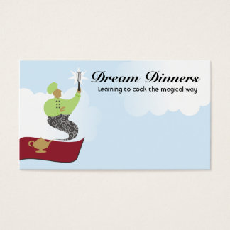 Magic genie flying carpet chef whisk business card