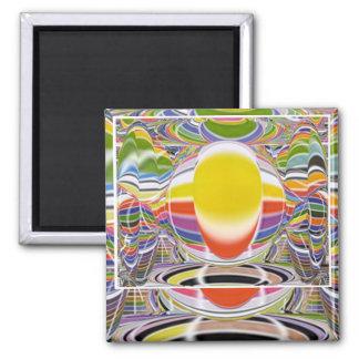 Magic Glow Lamp Square Magnet
