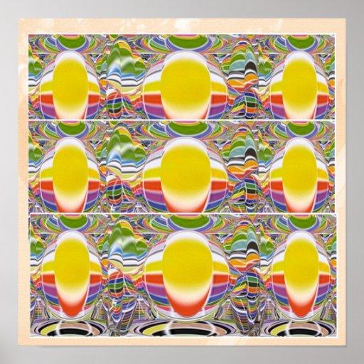 Magic Glow Lamps Print