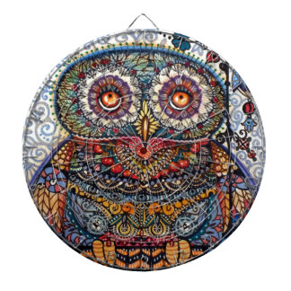 Magic graphic owl painting dartboard with darts
