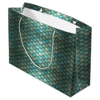 Magic Green Dragon Scale Fantasy Gift Bag