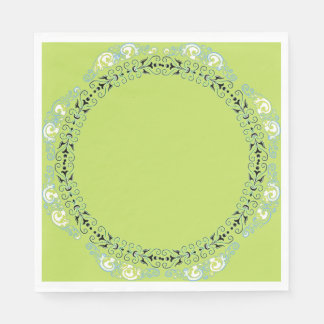 MAGIC-GREEN-FLORAL-FRESH--NAPKIN-DECOR PAPER NAPKINS