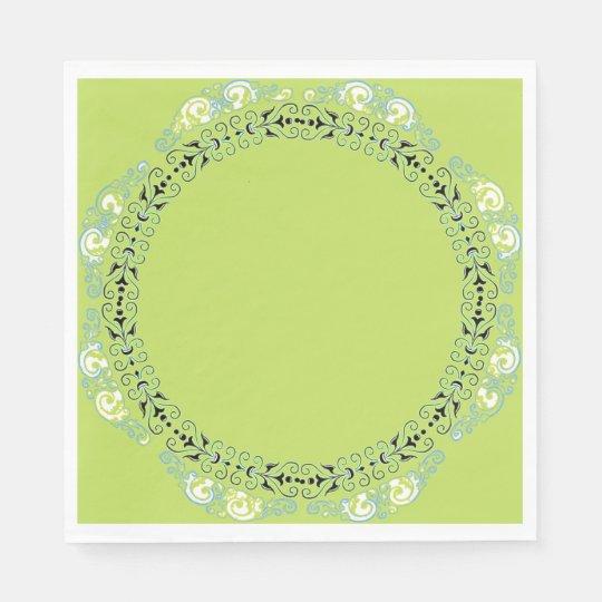 MAGIC-GREEN-FLORAL-FRESH--NAPKIN-DECOR PAPER NAPKINS