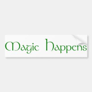 Magic Happens Bumper Sticker