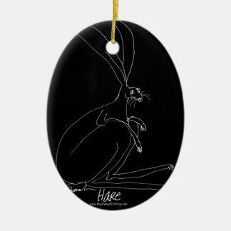 magic hare ceramic ornament