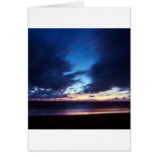 Magic hen Beach in Denmark Card