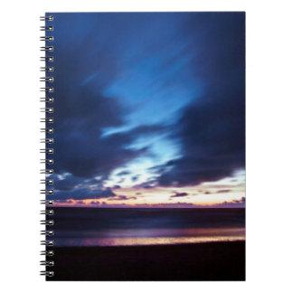 Magic hen Beach in Denmark Spiral Notebook