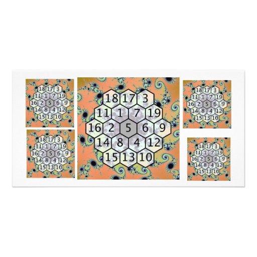 Magic Hexagon Fractal 1 Photo Card Template