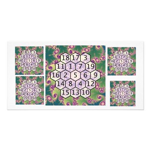 Magic Hexagon Fractal 2 Photo Cards