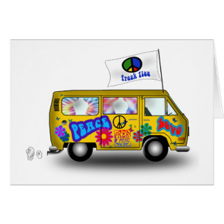 Magic Hippie Van Card