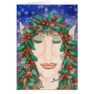 Magic Holiday Elf Greeting Card