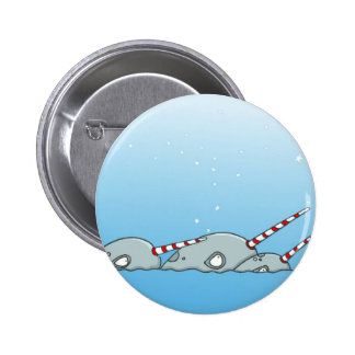 Magic holiday Narwals Pinback Buttons