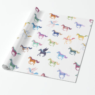 magic horses white wrapping paper