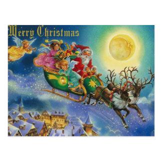 Magic in the air christmas postcard